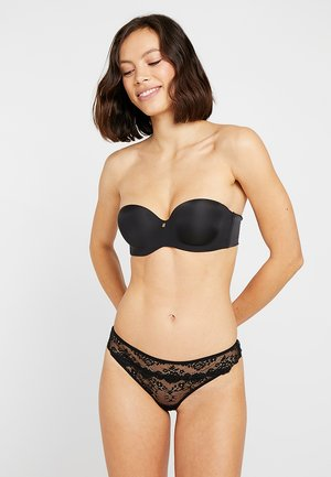 3 PACK - String - black/bordeaux/nude