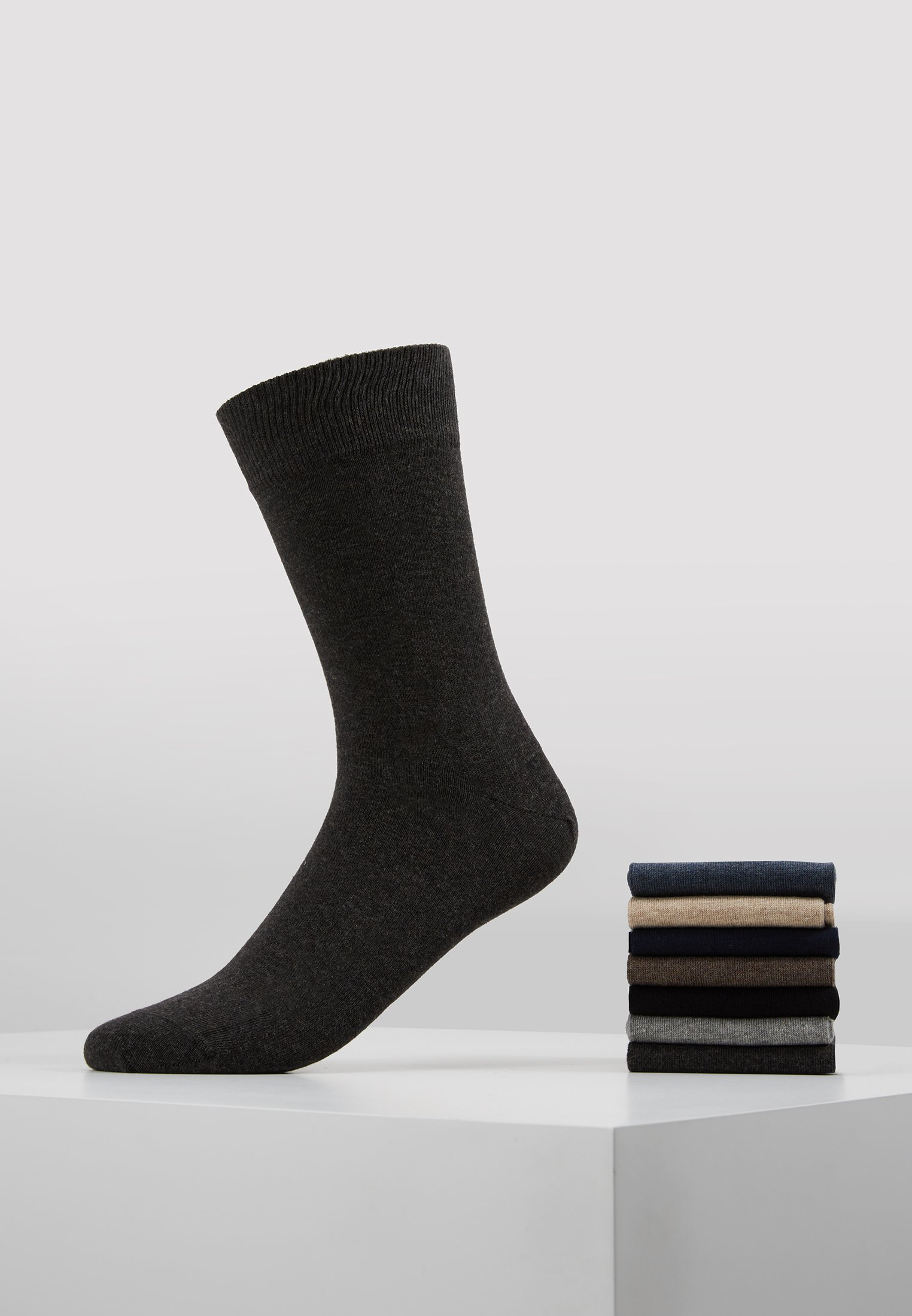 Essentials 7 blue Black Zalando PackChaussettes brown EYWIH29D
