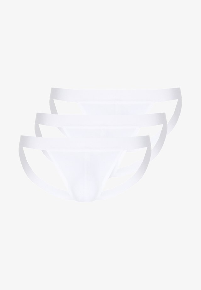 3PACK JOCK STRAP - Briefs - white