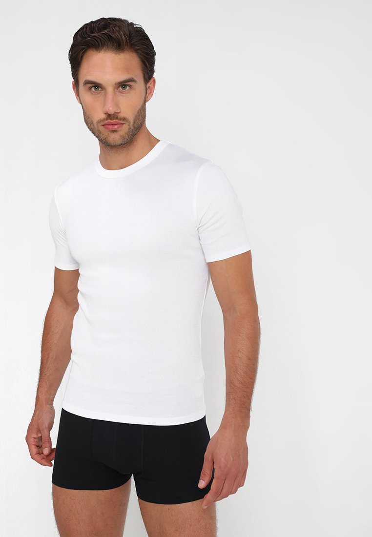 Zalando Essentials - 3 PACK - Camiseta interior - grey/black/white