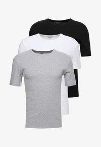 Zalando Essentials - 3 PACK - Camiseta interior - grey/black/white - 5