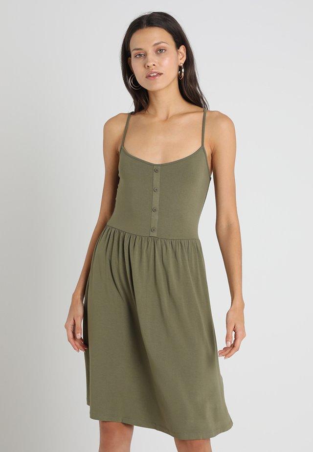 Žerzejové šaty - burnt olive