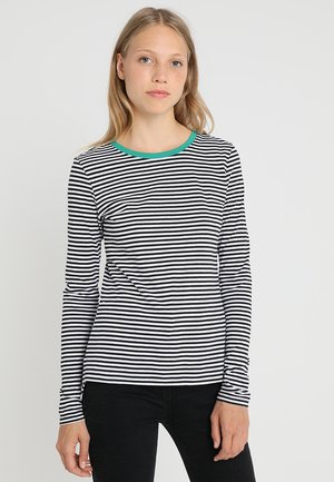 Long sleeved top - white/black/green