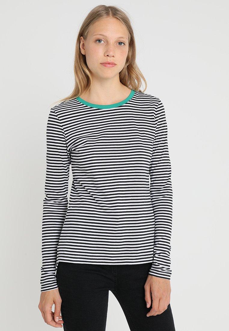 Zalando Essentials Tall - Bluzka z długim rękawem - white/black/green