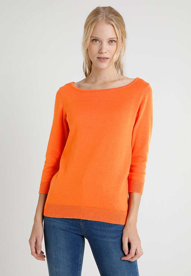 Strickpullover - orange
