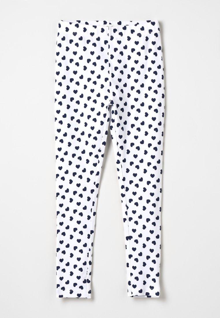 Zalando Essentials Kids - Leggings - Trousers - peacoat/offwhite
