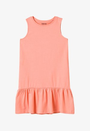 Jersey dress - peach amber