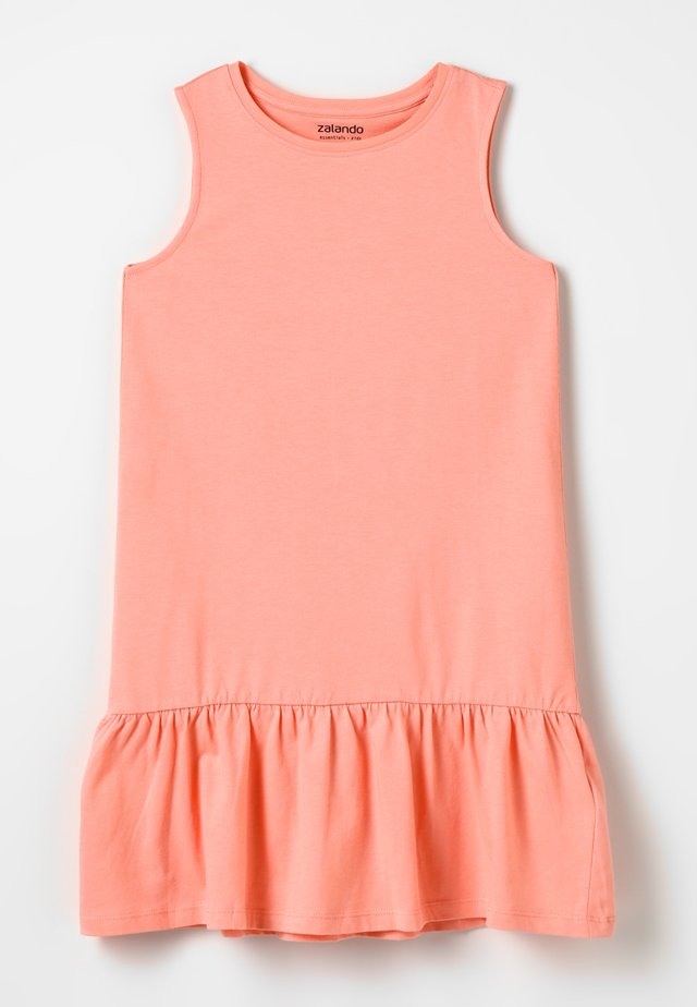 Sukienka z dżerseju - peach amber