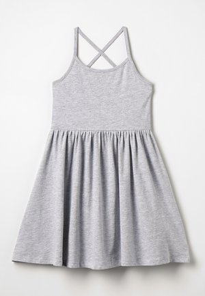 Robe en jersey - mottled light grey