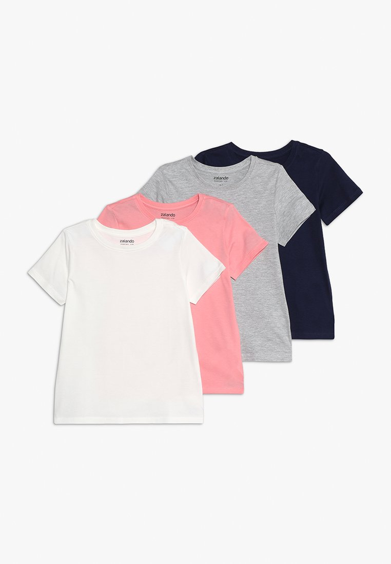 Zalando Essentials Kids - 4 PACK - T-shirt - bas - bros/light grey