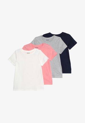 4 PACK - T-shirt basic - bros/light grey