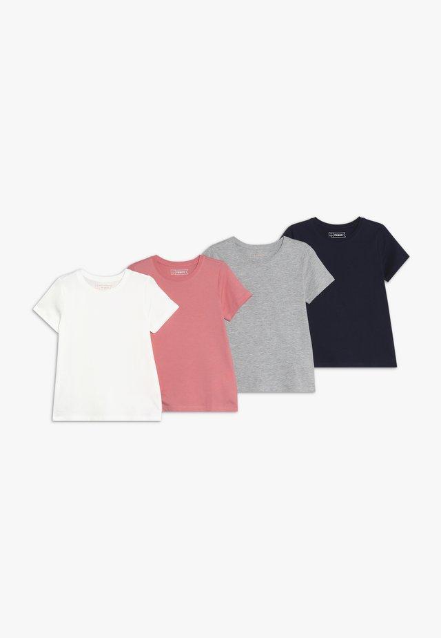 4 PACK - T-Shirt basic - melange/strawberry