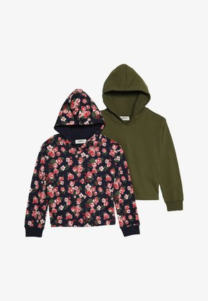 2 Pack - Sweat à capuche - peacoat/wintermoss