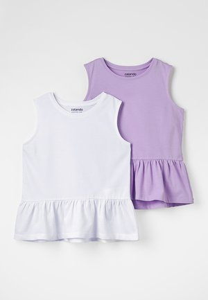 2 PACK - Top - lavendula/white