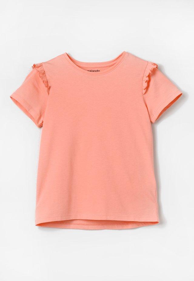 Print T-shirt - peach amber