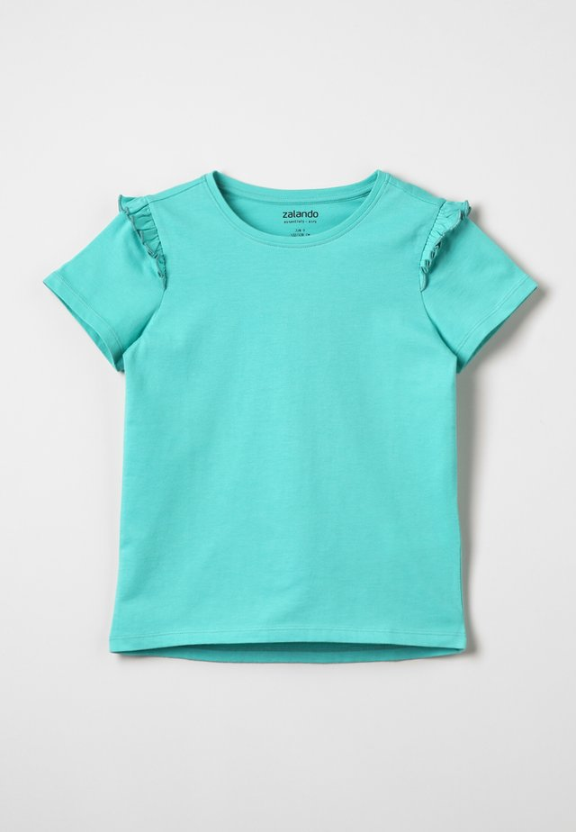 Print T-shirt - turquoise