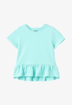 Print T-shirt - aruba blue