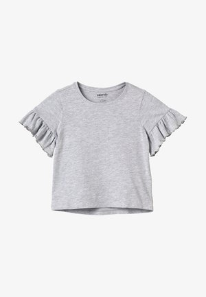 T-shirt basic - mottled light grey