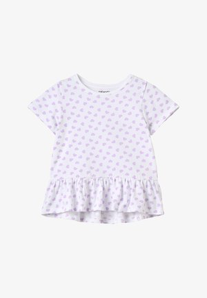 Camiseta estampada - lavendula/white