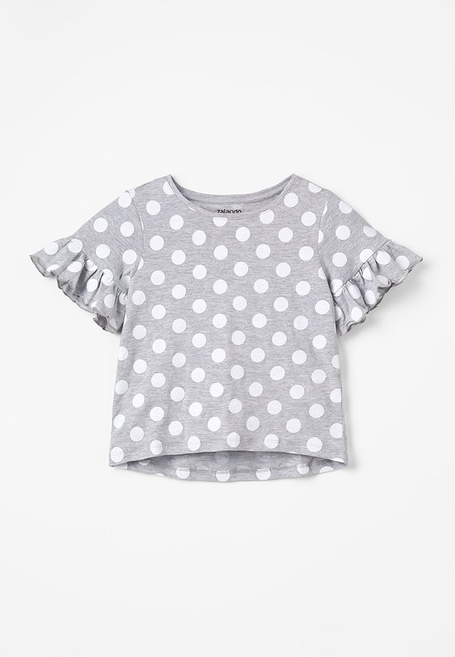 T-shirt con stampa - mottled light grey