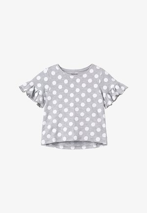Print T-shirt - mottled light grey