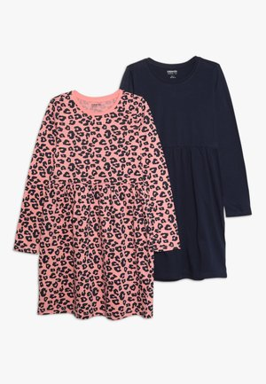 2 PACK - Jersey dress - peacoat/pink
