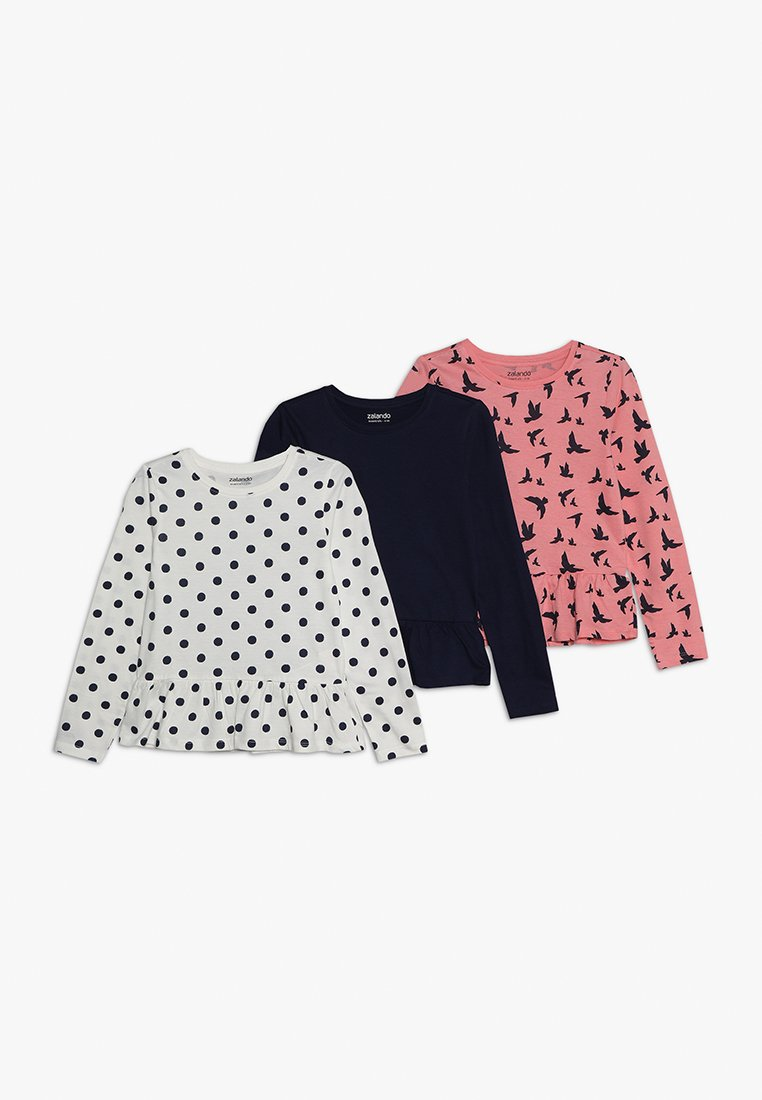 Zalando Essentials Kids - 3 PACK - Långärmad tröja - white winter/peacoat