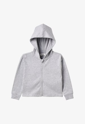 Mikina na zip - mottled light grey