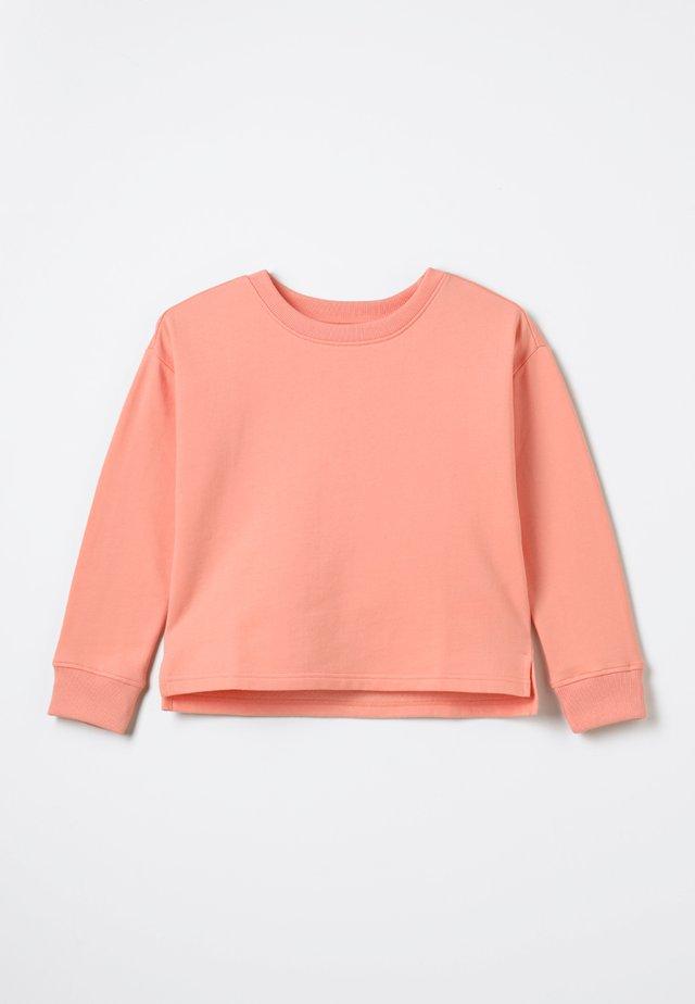 Sweatshirt - peach amber