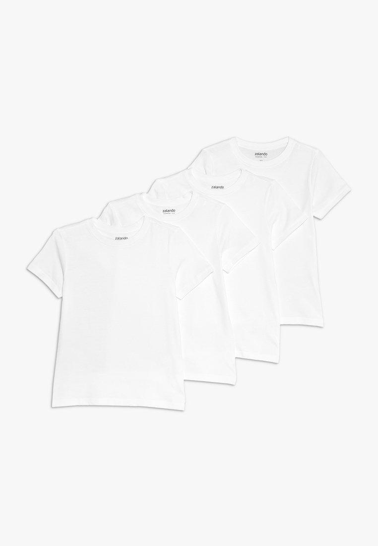 Zalando Essentials Kids - 4 PACK  - T-Shirt basic - winter white