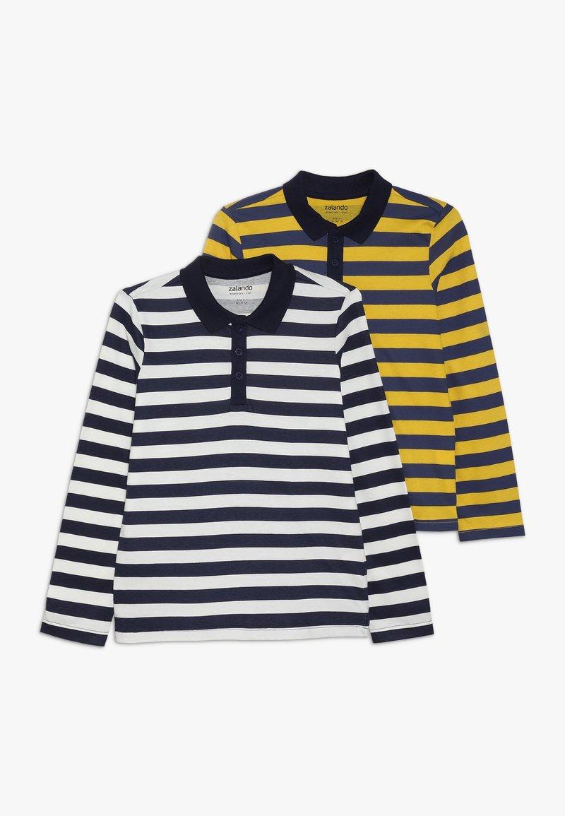 Zalando Essentials Kids - 2 PACK - Piké - white/yellow