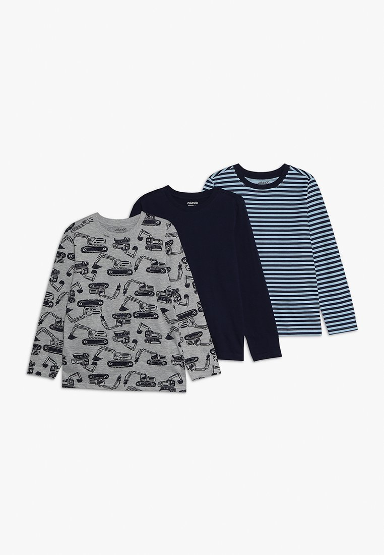 Zalando Essentials Kids - 3 PACK  - Langarmshirt - bros/peacoat/cerulean