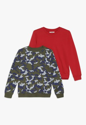 2 PACK - Sweatshirt - winter moss/red