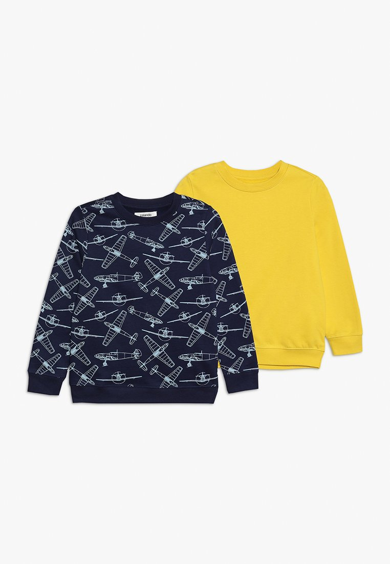 Zalando Essentials Kids - 2 PACK - Sweatshirt - waxed yellow/peacoat
