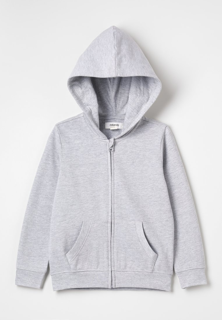 Zalando Essentials Kids - Felpa aperta - light grey melange