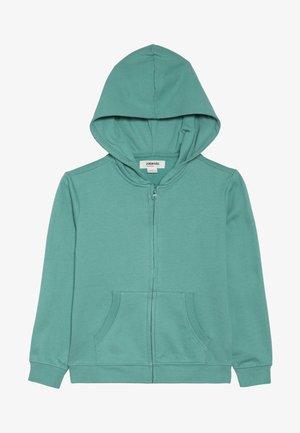Mikina na zip - beryl green