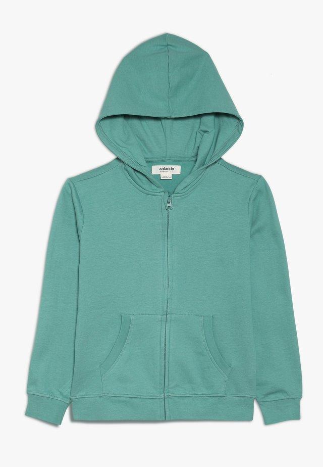 Hoodie met rits - beryl green