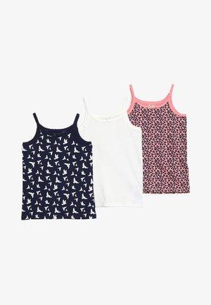 3 PACK - Undershirt - pink/peacoat