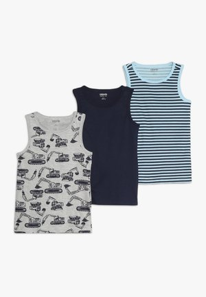3 PACK - Undershirt - peacoat/cerulean