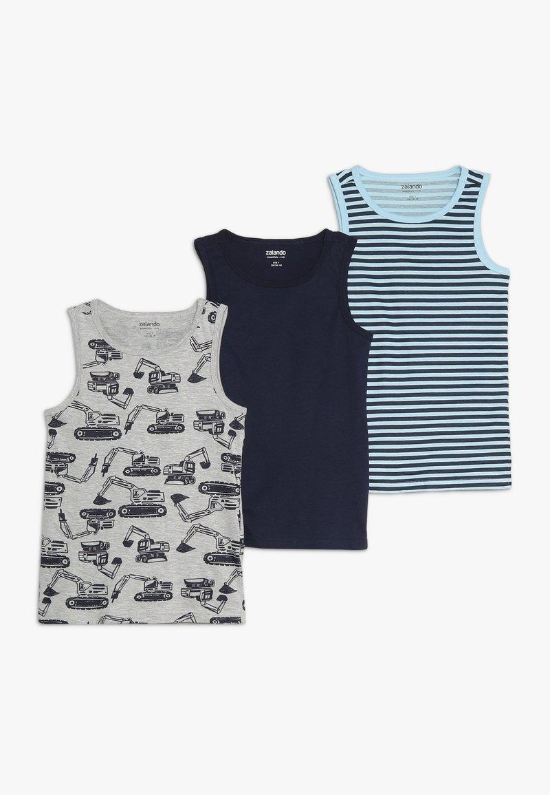 Zalando Essentials Kids - 3 PACK - Unterhemd/-shirt - peacoat/cerulean