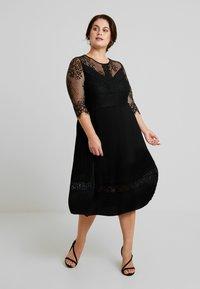 ZAY - YLAVA SLEEVE DRESS - Vestido de cóctel - black - 0