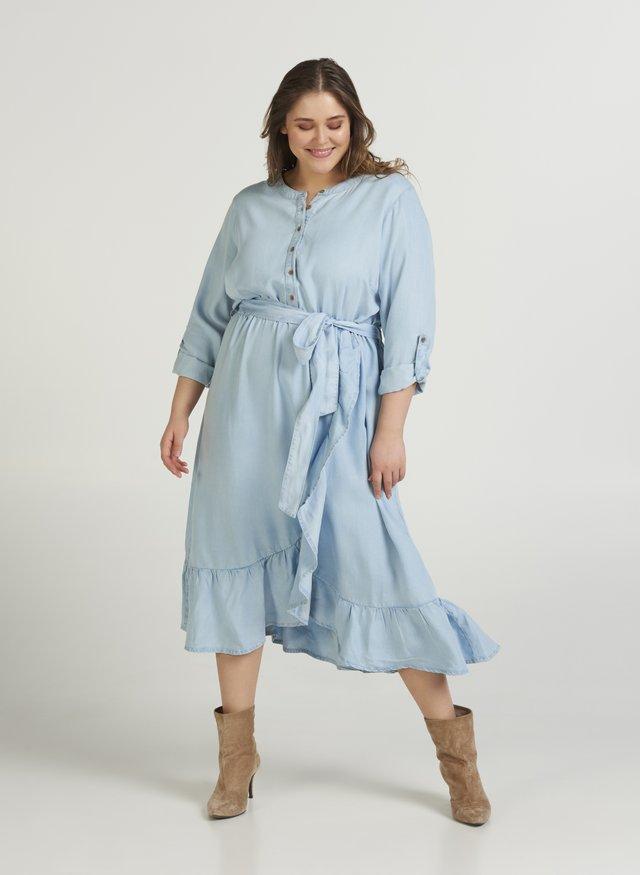 Jeanskleid - light blue