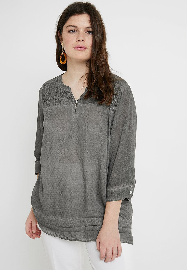 ZAY - YODA BLOUSE - Blusa - dark grey wash