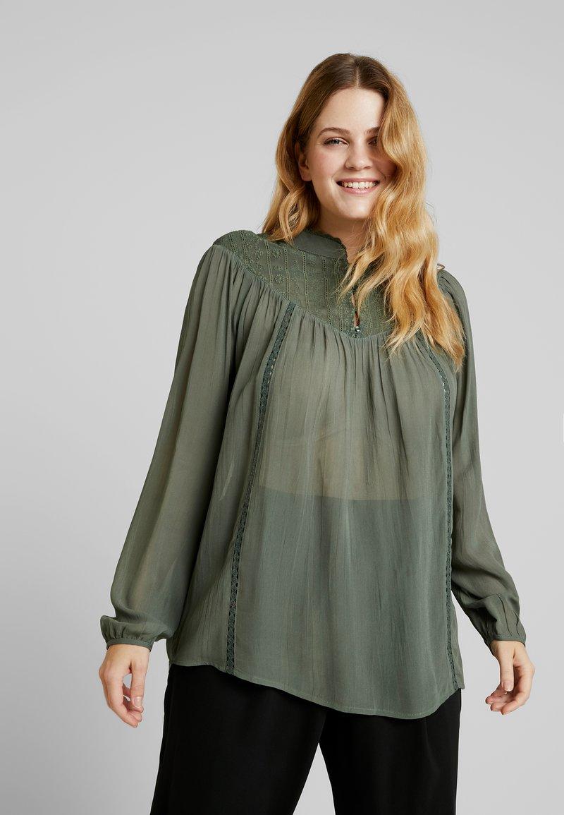 ZAY - YOELLA BLOUSE - Blusa - dark green