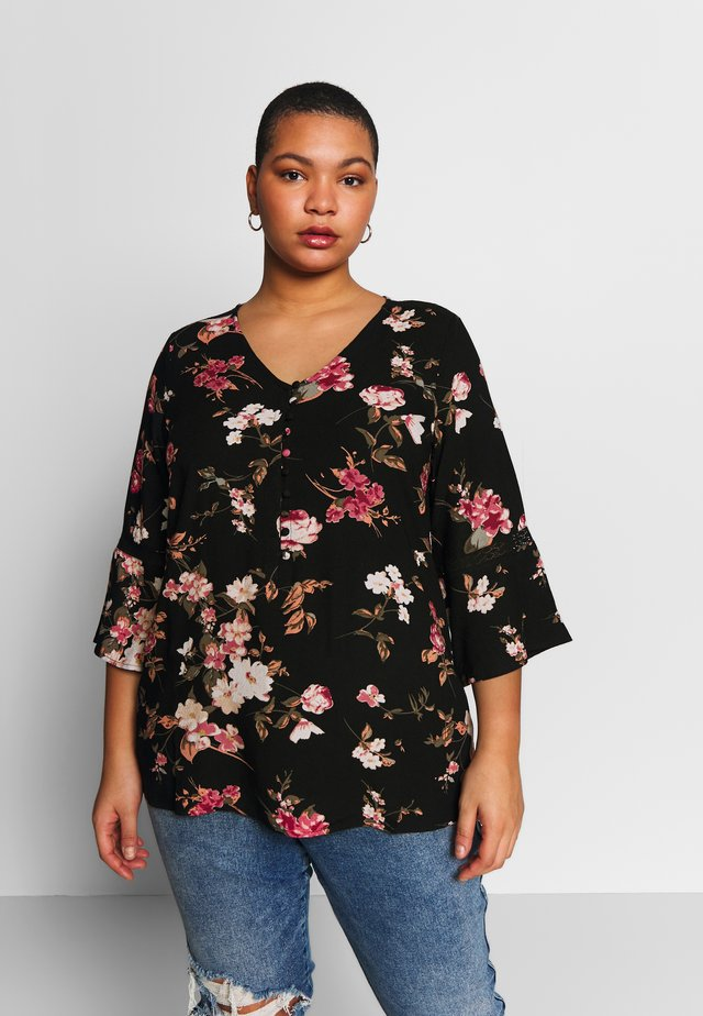 YELMA 3/4 SLEEVE BLOUSE - Bluzka - black