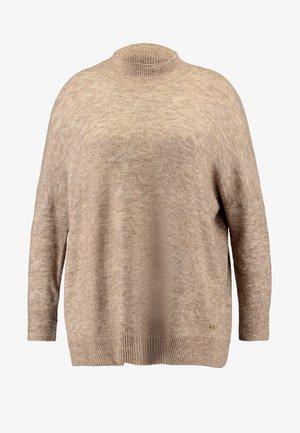 Strickpullover - light brown melange