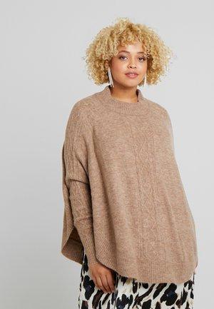 YVOILA - Stickad tröja - sand