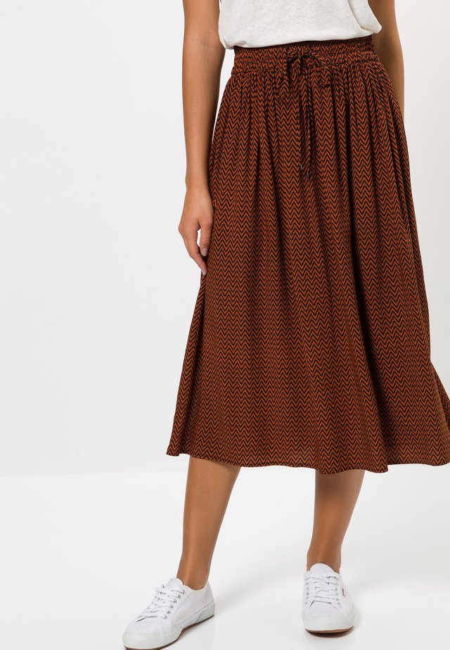 MIT MUSTER - A-line skirt - terra