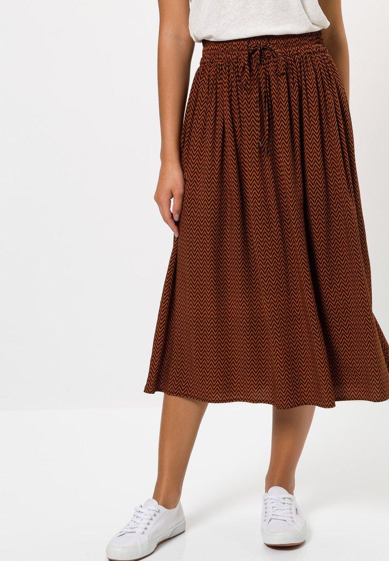zero - MIT MUSTER - A-line skirt - terra