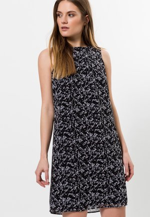 MIT BLUMENDRUCK - Day dress - black